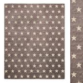 Chenille Star Handwoven Wool Flatweave Rug RH