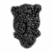 Bedside Sheepskin Rug Fur 02