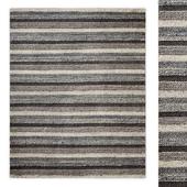 Pattern Stripe Handwoven Wool Rug RH