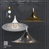 Pendant Lamp Semi Pendant By Bonderup & Thorup for Gubi Chrome / White / Gold