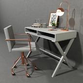 Desk white furniture