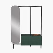 Novamobili easy clothes rail and drawers