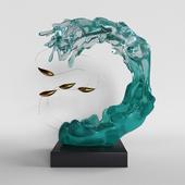 """Декор """"Волна и рыбки"""""""