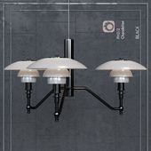 Chandelier Louis Poulsen PH3 / 2 Academy Ceiling Lamp Black