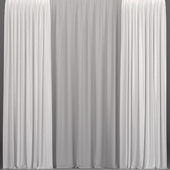 White curtains from tulle.