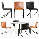 Acerbis Jot chairs & Eyon table
