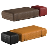 Grant Bench and Pouf