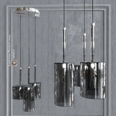 Pendant lamp AXO Light Spillray SP3 pendant lamp Smoke glass