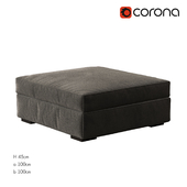 Axis II Square Cocktail Ottoman