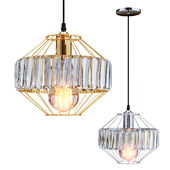 Lighting and Interiors - Nova Fitted Pendant Lamp (gold / silver)