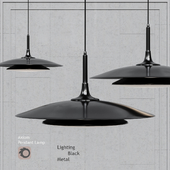 Pendant lamp Axiom Pendant black by Robert Abbey