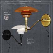 Настенный светильник Louis Poulsen PH3/2 Black and Gold Amber glass