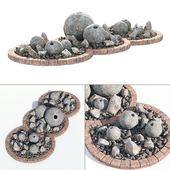 Flowerbad stone decor No. 3 / Flowerbed with stone decor