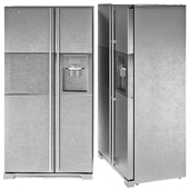 Samsung Fridge Refrigerator Modern Gray Steel