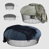 Bonaldo-soft pouf upholstered