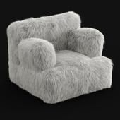 Winter Fox Faux-Fur Eco-Lounger White