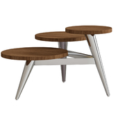Wood And Metal Multi Level Coffee Table2