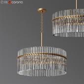 Casandra 4-light Brushed Brass Pendant Crystal Chandelier