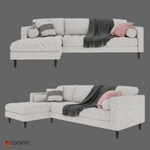 SVEN Birch Ivory Sectional Sofa