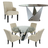 Casabianca Firenze Table and Ascot Hill Arrowwood Chair