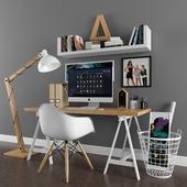 scandinavian desk set