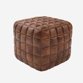 Casa Padrino Genuine Leather Stool Brown