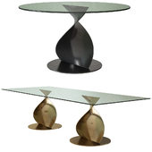 Porada Elika Glass Dining Table