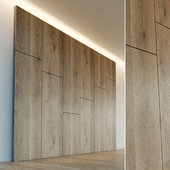 Decorative wall. Wall panel made of wood. 13