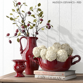 Pottery Barn HUDSON CERAMICS - RED