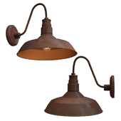 Vintage Barn Sconce Rusty