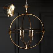 Casa Florentina Lando Orb 4-Light Chandelier