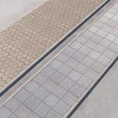 2 sidewalk options with road set_10