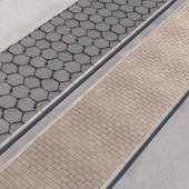 2 sidewalk options with road set_11
