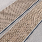 2 sidewalk options with road set_13