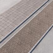 2 sidewalk options with road set_15