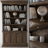 wooden library-bookcase