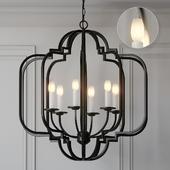 Ballard Designs Katherine 6-Light Geometric Chandelier