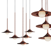 Pendant lamp Bullarum SS-1 Disk Copper 3tipes