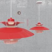 Pendant lamp Poul Henningsen PH5 Red Pendant Lamp