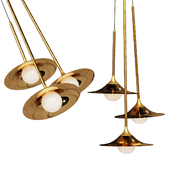 Pendant lamp Bullarum SS-3 Disk Gold