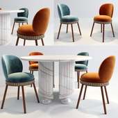 Dooq Alma Chair and Memphis table