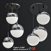 Copper Light Black Pendant 3