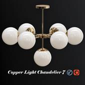 Copper Light Chandelier 7