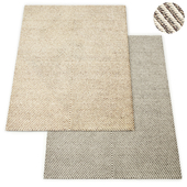 Axiom Handwoven Wool Flatweave Rug RH Collection