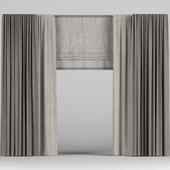 Brown Roman Curtains.