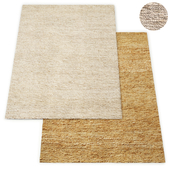 Wabi-Sabi Hand-Braided Jute Rug RH Collection