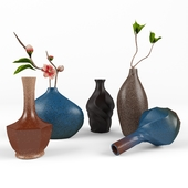 Retro style vases