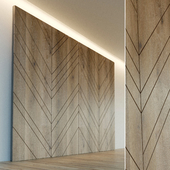 Wall panel made of wood. Decorative wall. 24