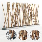 Thin branch bamboo pebble