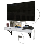 TV set with playstation 4